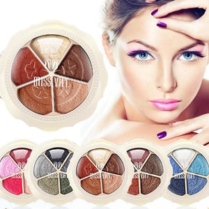 5 Colors Petal Shape Naked Glitter Eyeshadow Palette Professional Beauty Makeup Beauty Eye Shadow Palette Z3