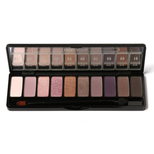 Cosmetic Matte Eye Shadow 10 Color Make Up Set Nudes Pallete Eyeshadow Palette with Brush Brighten Maquillaje A4