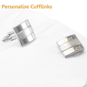 Customized Wedding Anniversary Cufflinks Laser Engraved Name Record Classic Personalized Cuff links for Men SAVOYSHI Jewelry DIY - All2Wear.com