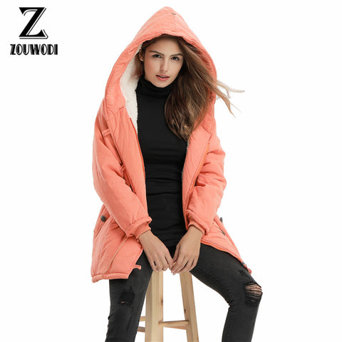 Women Winter Cotton Jackets And Coats Plus Women's Parka Hooded Warm Casual Overcoats Long Sleeve Female Coat