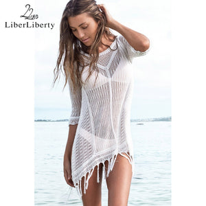 Beach Tunic Sexy Cover Up Women Crochet Beach Dress - All2Wear.com
