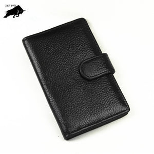 12-bit card Genuine Leather Business Card Case Ladies Wallet