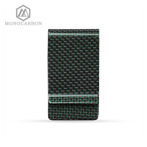 Metal Crafts Excellent Quality Blank Carbon Fiber Monery Clip,For Green Money Clips
