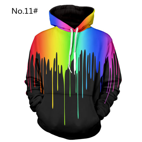 3D Hoodies Men Casual Hip Hop 3D Printed Sweatshirt Pullover Plus Size 2018