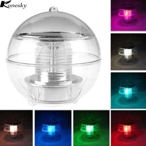 Solar Power LED Floating Night Light Multi Color Changing Waterproof Bulb Lamp