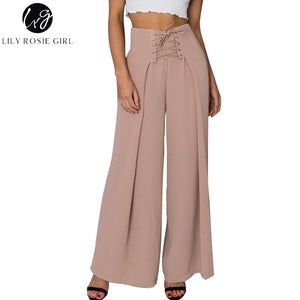 Wide Leg Pants Casual High Waist Long LooseTrousers
