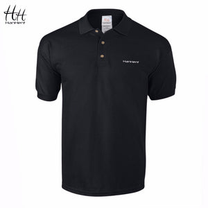 Embroidery Logo Men 100% Cotton Business Casual Solid Color Polo Shirt
