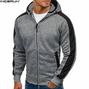 Hoodies Men Sweatshirt Zipper Long Sleeve Sweatshirt M-XXL