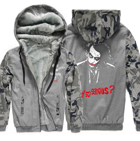 why so serious Hooded Sweatshirt