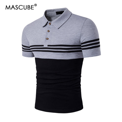 Cotton Shirt Short Sleeve Business Polo Shirt Slim Fit Casual