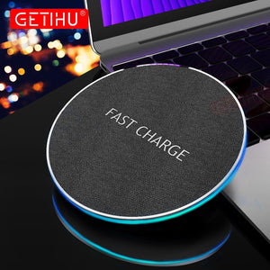 Wireless Charging Pad 10W Fast For iPhone 8 Plus X Samsung S8 Note 8 QC