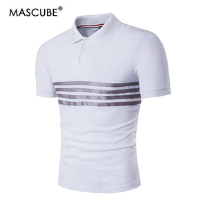 Casual Brand Striped Polo Shirt
