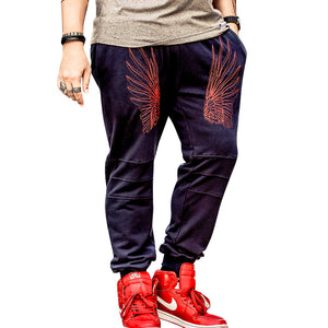New Fashion Men's Personality Pants Men Cotton Jogger Pants Casual Style Sweatpants Men's Drawstring Trousers
