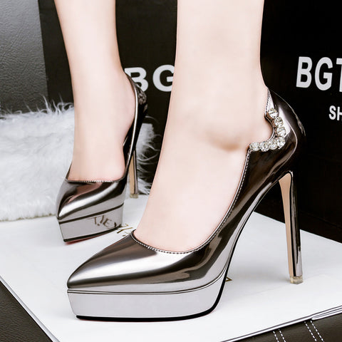 Luxury Designer Good Quality Leather Wedding Shoes Women Pumps Red Bottom Shoes High Heels Shoes sapatos femininos hot sale