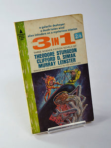 3 in 1: Three Science-Fiction Novels by Theodore Sturgeon, Clifford D. Simak & Murray Leinster (Pyramid Books / first printing August 1963)