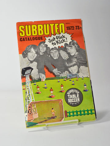 Fold-out Subbuteo 1972-73 table football catalogue complete with 'Football Express' booklet with rules for the new 'five-a-side' format.