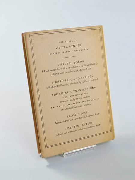 Witter Bynner: Selected Letters Ed. by James Kraft