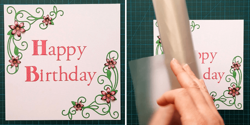 Apply your letters using Transfer Roll and then save the sheet for another project