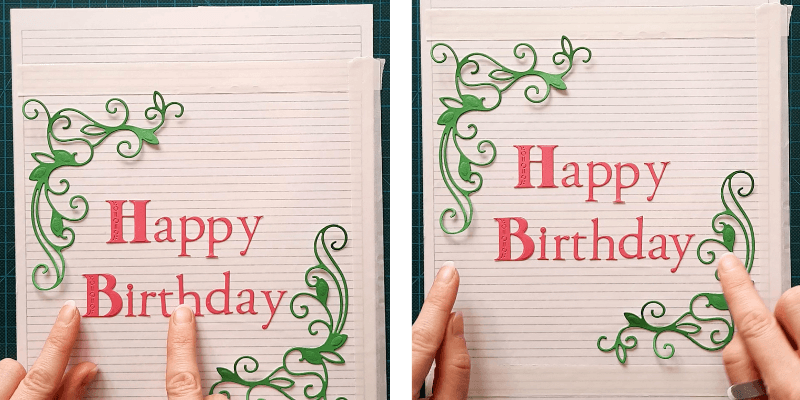 How to line up your letters and sentiments