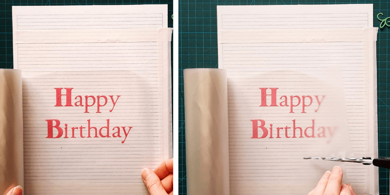 Unwind your Transfer Roll over your die-cut letters