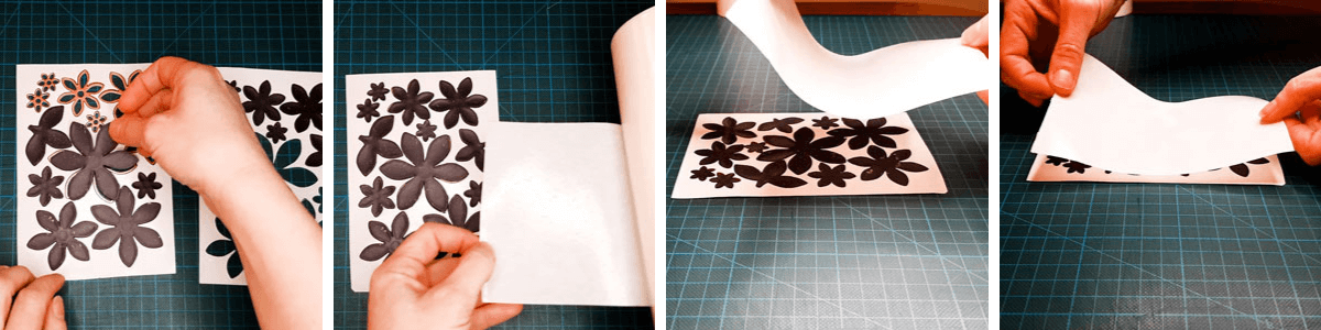 How to place Sticky Roll on your release paper covered Die