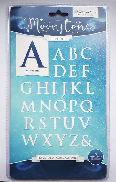 Hunkydory Moonstone Cutting Dies - Personally Yours Alphabet