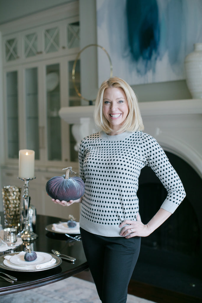 bluegraygal Kelly Page is Atlanta Blogger who specialized in holiday home decor.