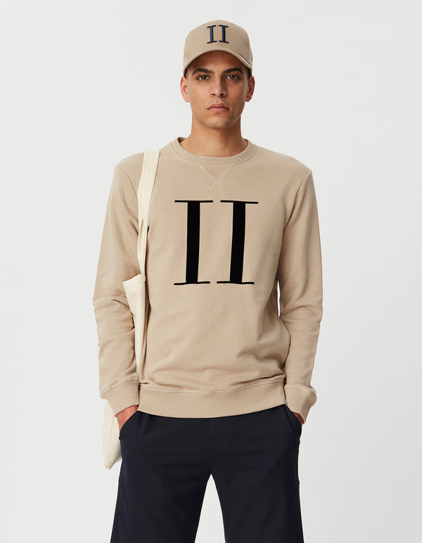 Les Deux MEN Encore light Sweatshirt Sweatshirt 810100-Dark Sand/Black