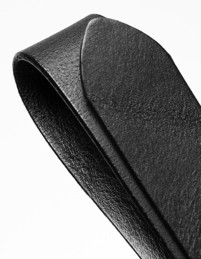 Les Deux MEN Walker Leather Belt Accessories 100100-Black