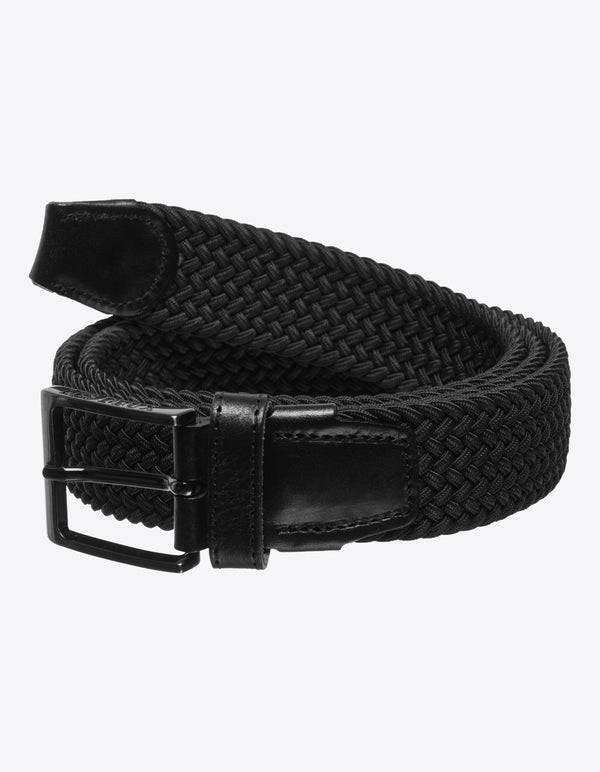 Les Deux MEN Walker Webbing Belt Accessories 100100-Black