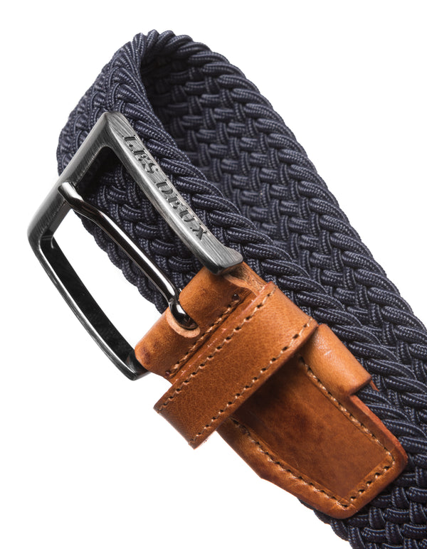 Les Deux MEN Walker Webbing Belt Accessories 460460-Dark Navy