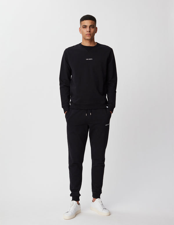 Les Deux MEN Lens Sweatpants Pants 100201-Black/White