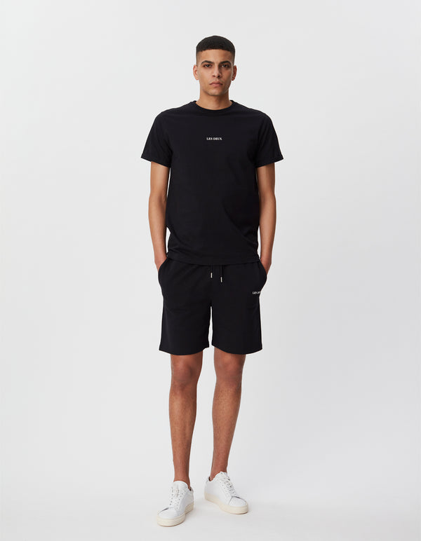 Les Deux MEN Lens Sweatshorts Shorts 100201-Black/White