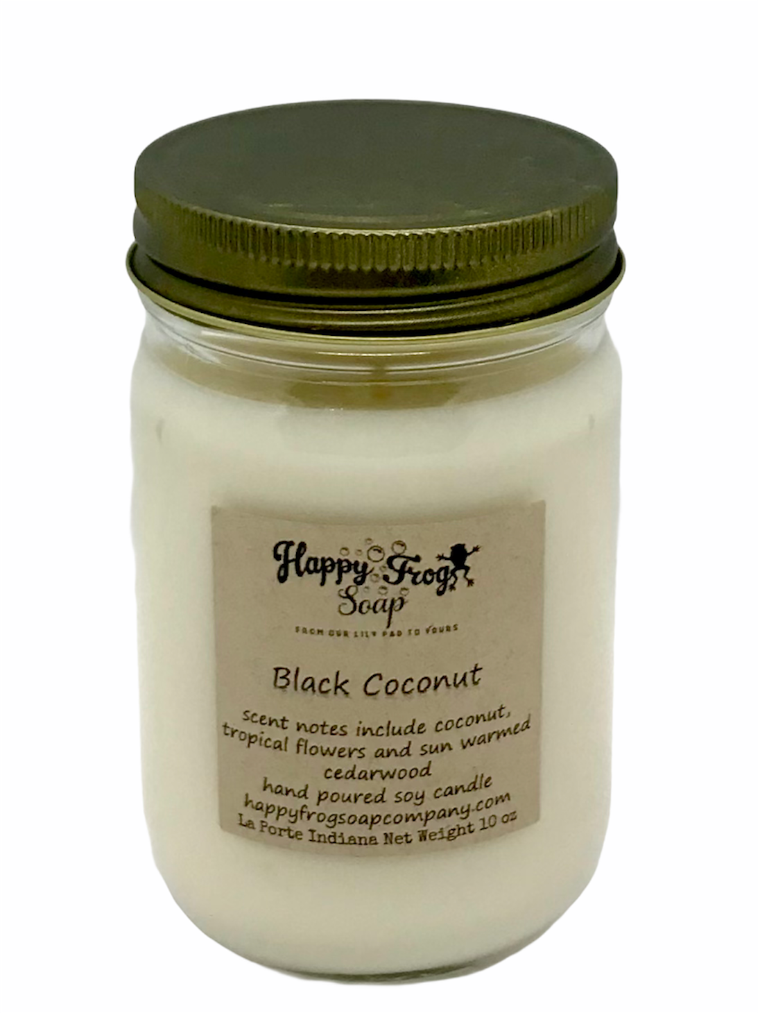Black Coconut Soy Candle 10 oz