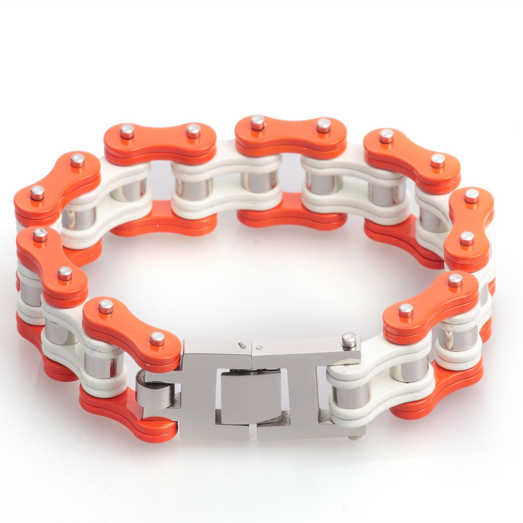 Bracelet Chaîne Moto Orange - Homme Bracelet Goodz.world 19 cm