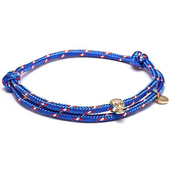 Bracelet cordon homme tête de mort - bleu royal bracelet Goodz.world