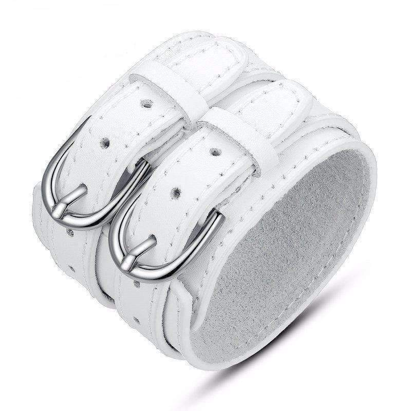 Bracelet de force cuir blanc bracelet Goodz.world