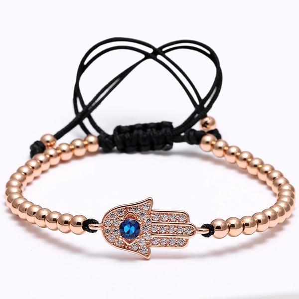 Bracelet perle Main de Fatma - or rose bracelet Goodz.world