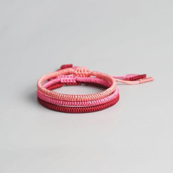 Bracelet tibétain porte-bonheur - rose rouge bracelet Goodz.world