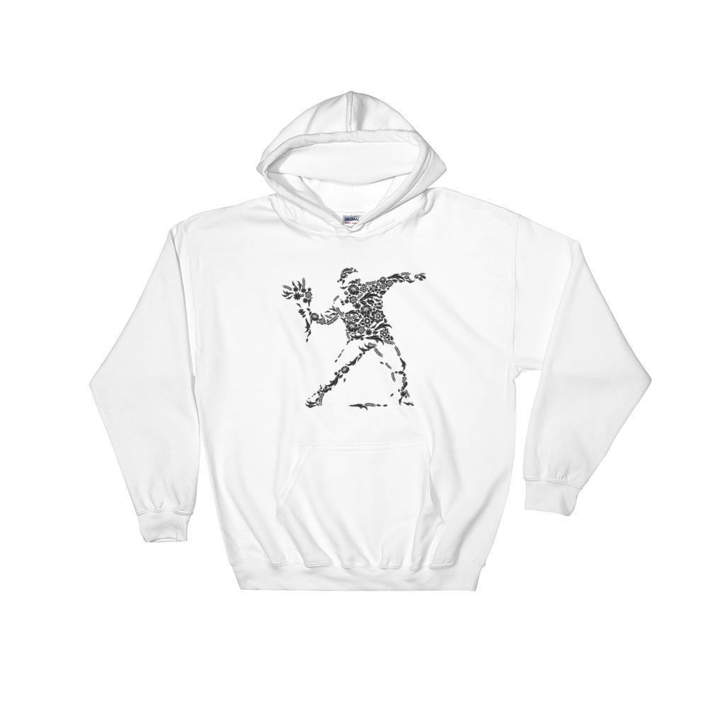 Hoodie sweat à capuche - manifestation fleurie Pull Goodz.world S