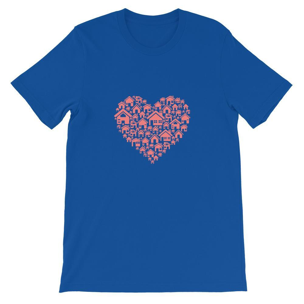 T-Shirt Heart - Bleu roi T-shirt Goodz.world S