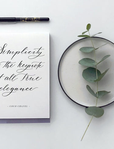 Spotlight: our at-home calligraphy kit