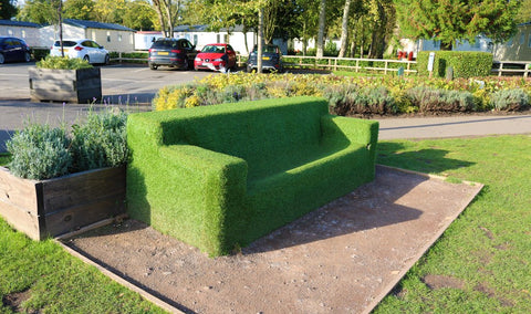 Astroturf sofa