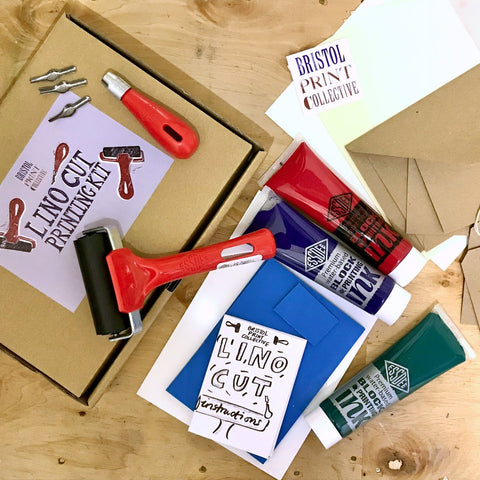 lino cutting kit dinner party gift