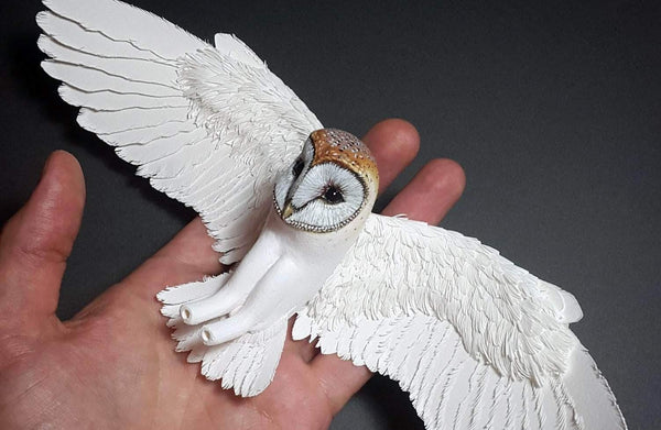 Paper and Wood Bird Making