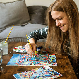At Home: Mindful Painting - London