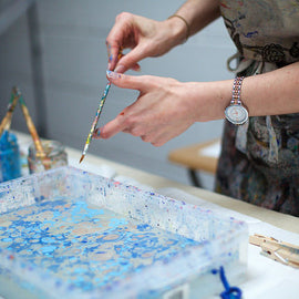 At Home: Contemporary Marbling