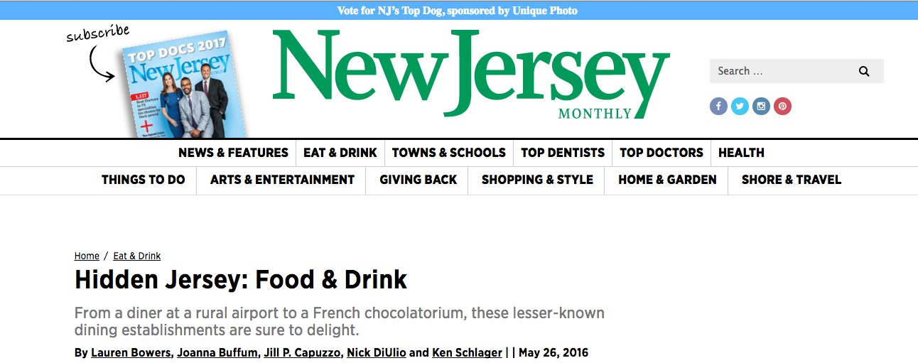 What NJ Monthly says about Chocolat Michel Cluizel