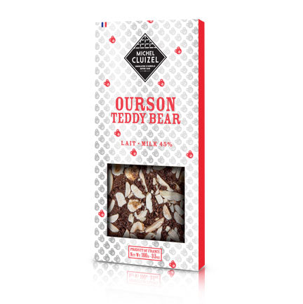 Tablette Ourson - Chocolat Michel Cluizel USA