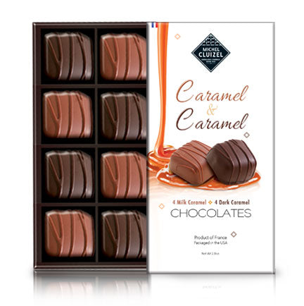 Chocolate Truffles - Milk & Dark Caramel, 8 - Chocolat Michel Cluizel USA